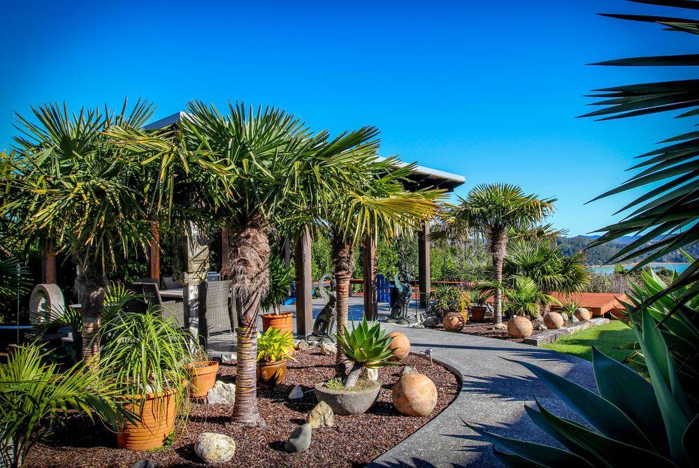 Tiki Tiki Ora garden path, New Zealand