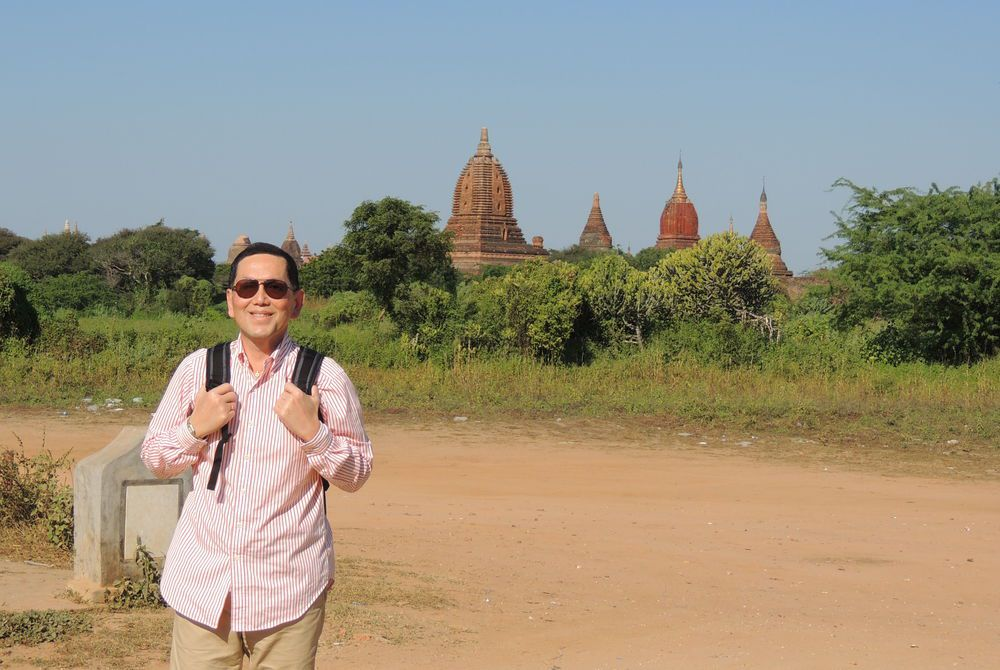 Tim at Bagan, Burma