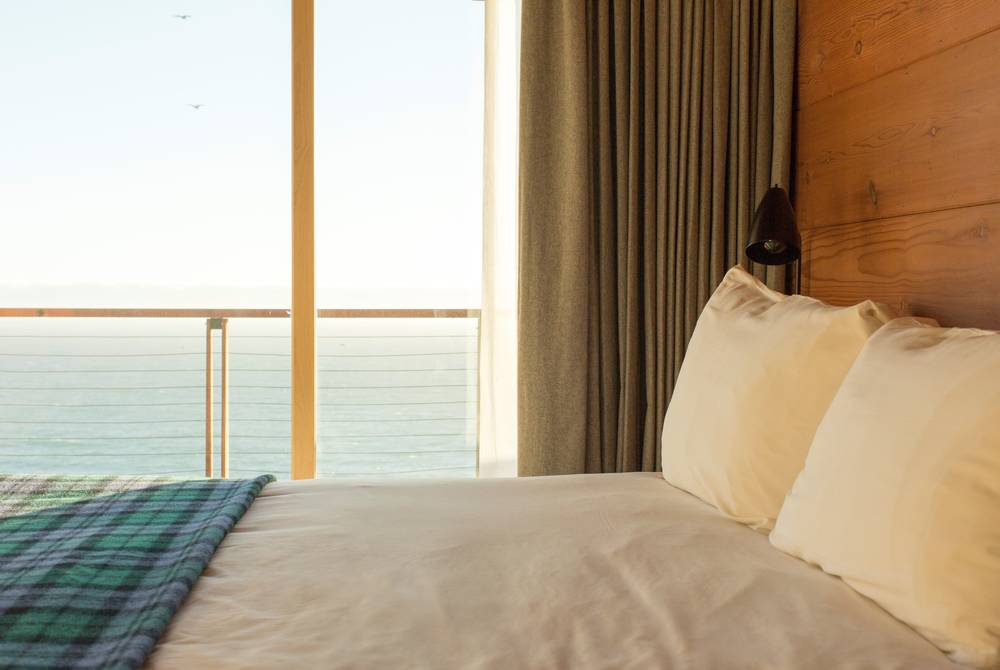 Ocean view bedrooms at Timber Cove