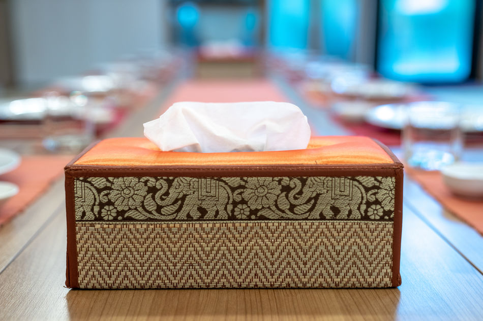 Tissue box in Japan