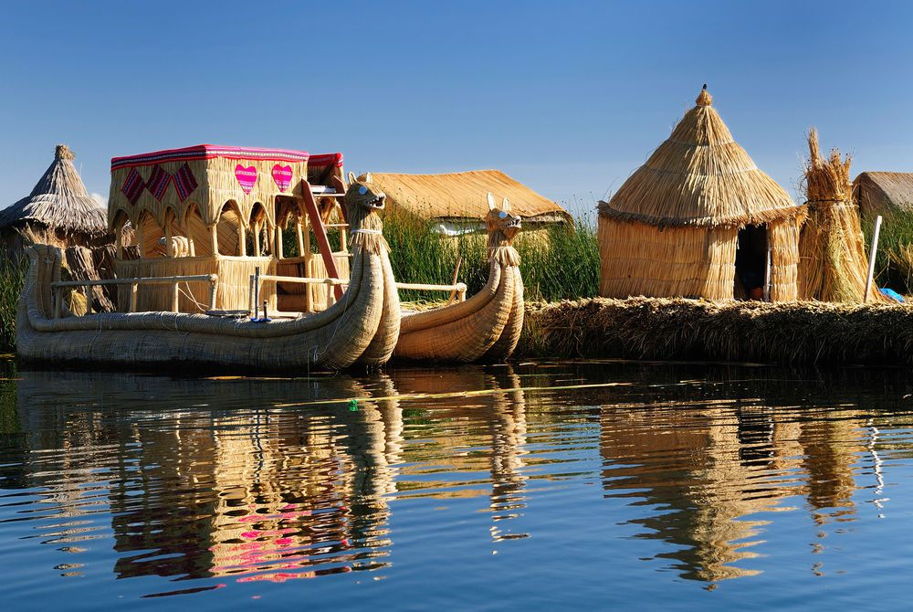 Titicaca lake, Bolivia border