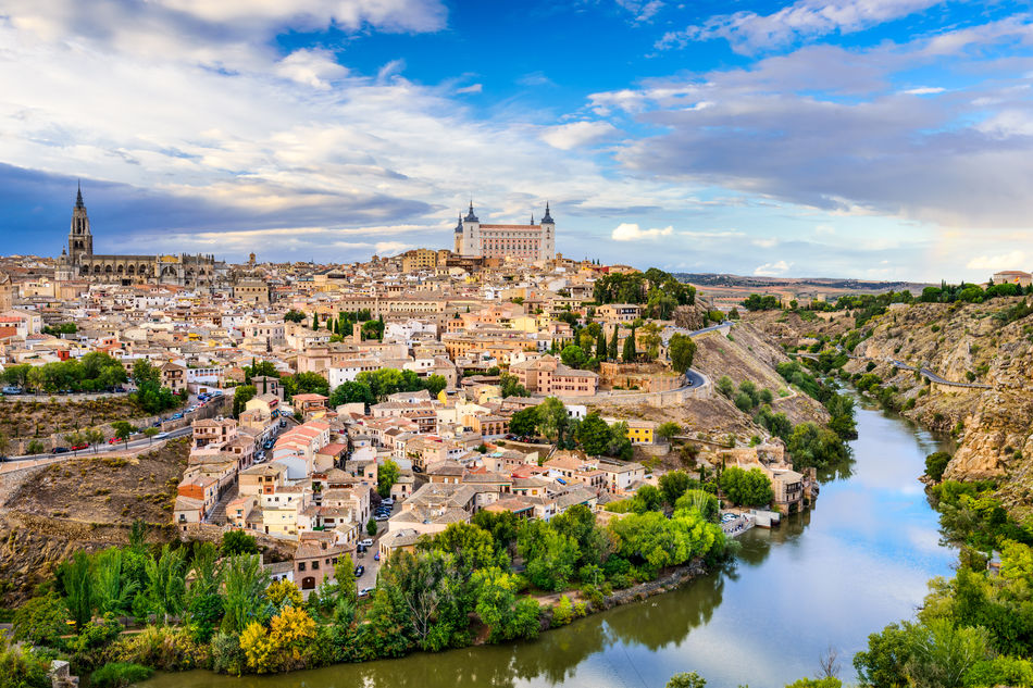 View across historic Toledo in central Spain