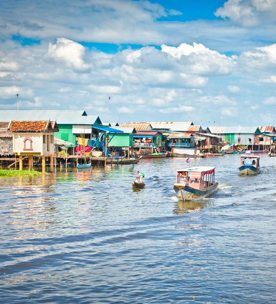 Tonle Sap floating lake in Cambodia