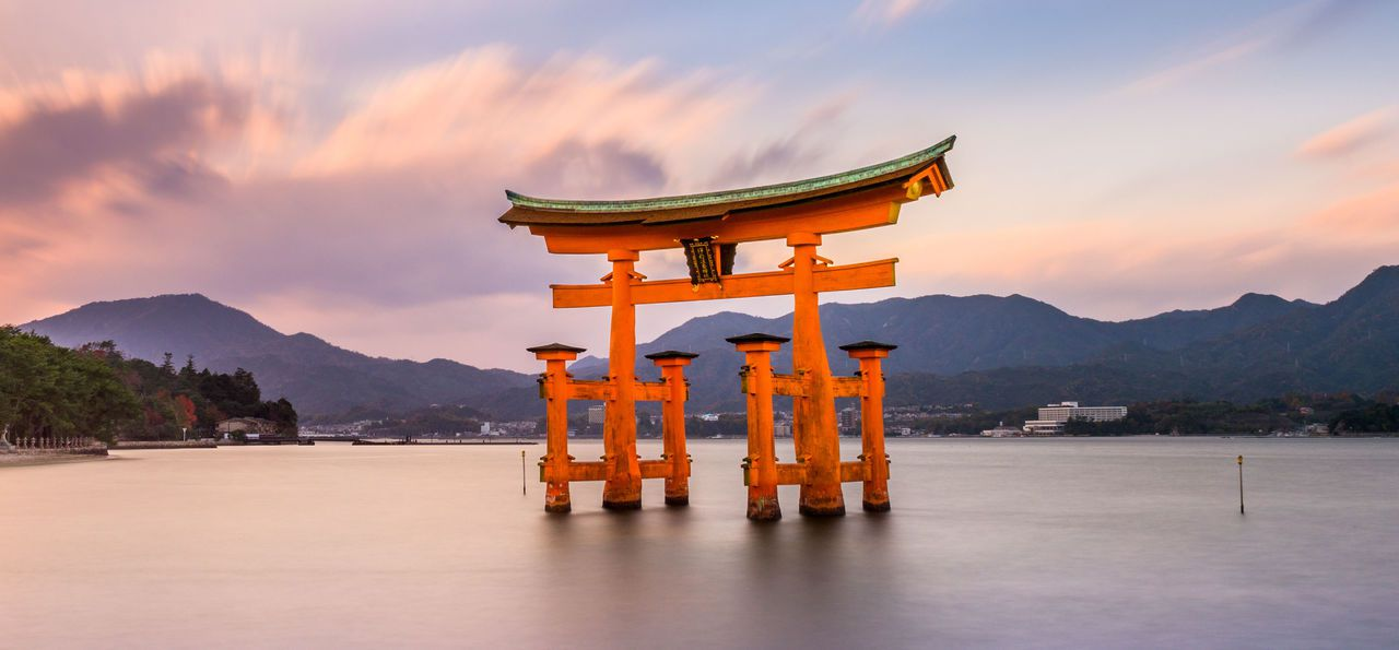 Torii Shrine, Miyajima in Hiroshima, Japan