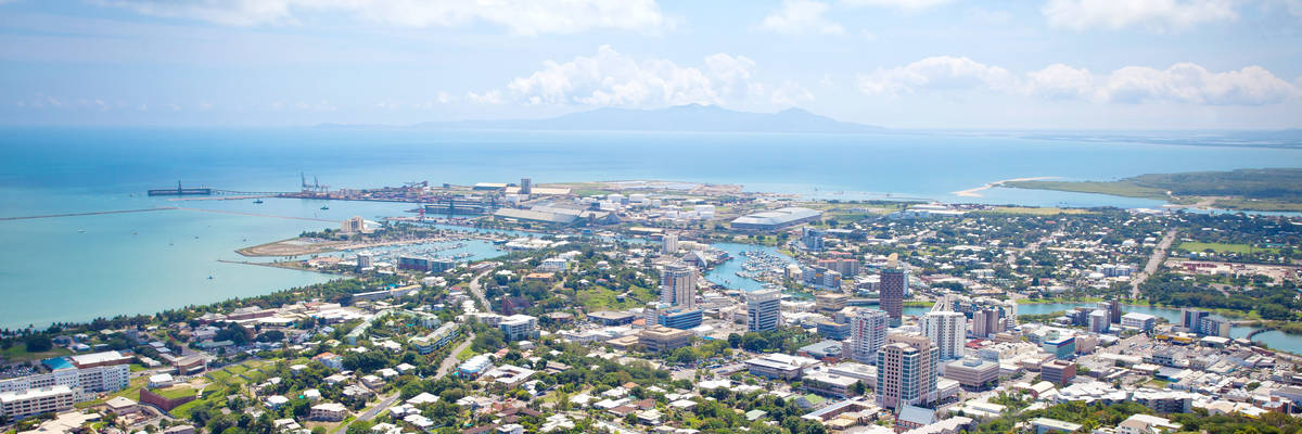 Townsville City Queensland Australia from Mt Stewart