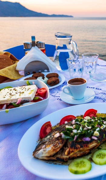Traditional dining in Crete