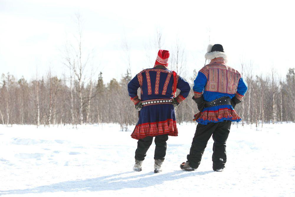 Traditional Sami Costume, Hotel Harriniva, Finnish Lapland