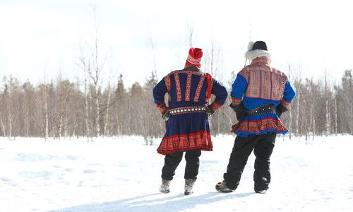 Traditional Sami Costume, Hotel Harriniva, Finnish Lapland
