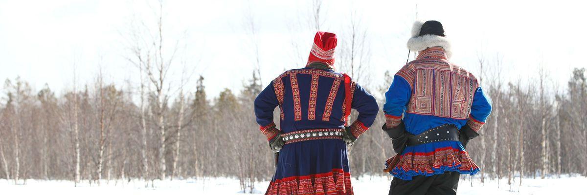 Traditional Sami Costume in Finnish Lapland