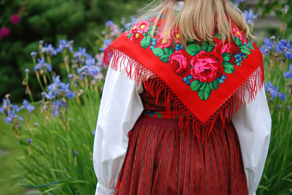 Traditional Swedish dress for Midsummer