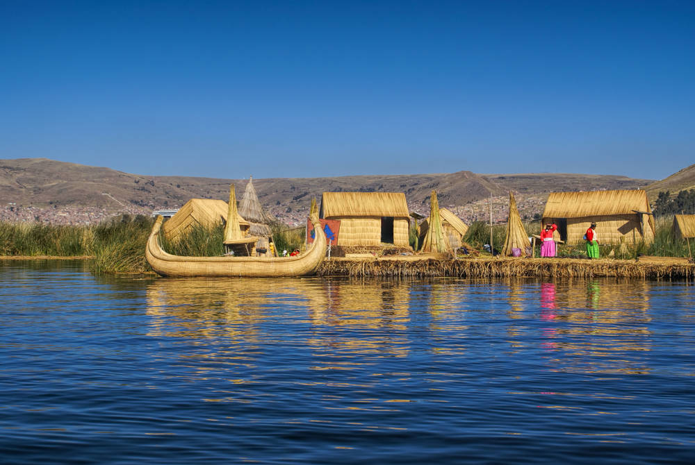 Floating reed village, Lake Titicaca