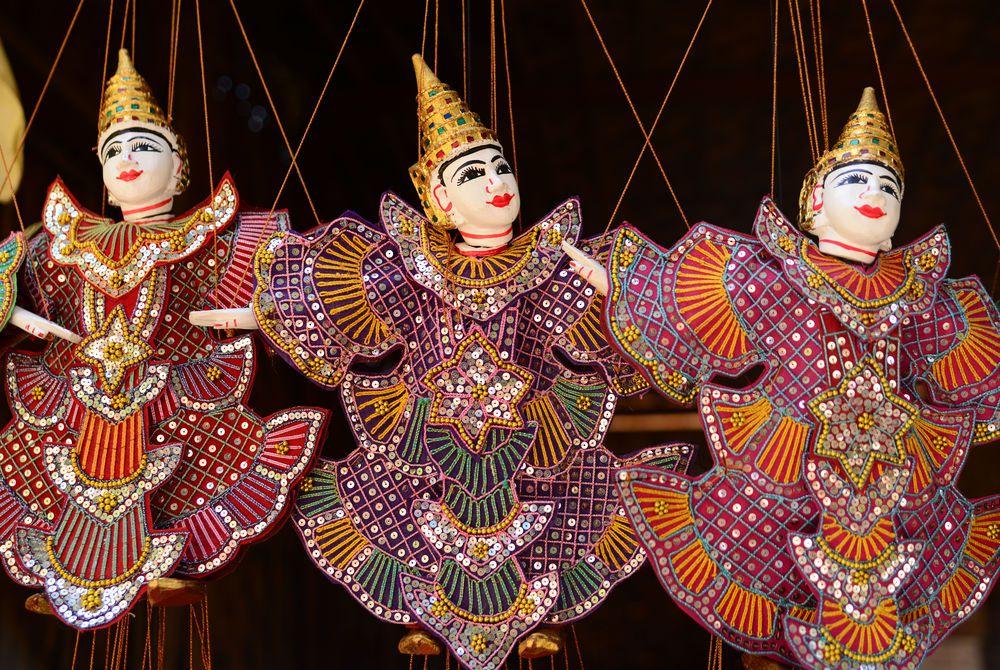 Traditional handicraft puppets