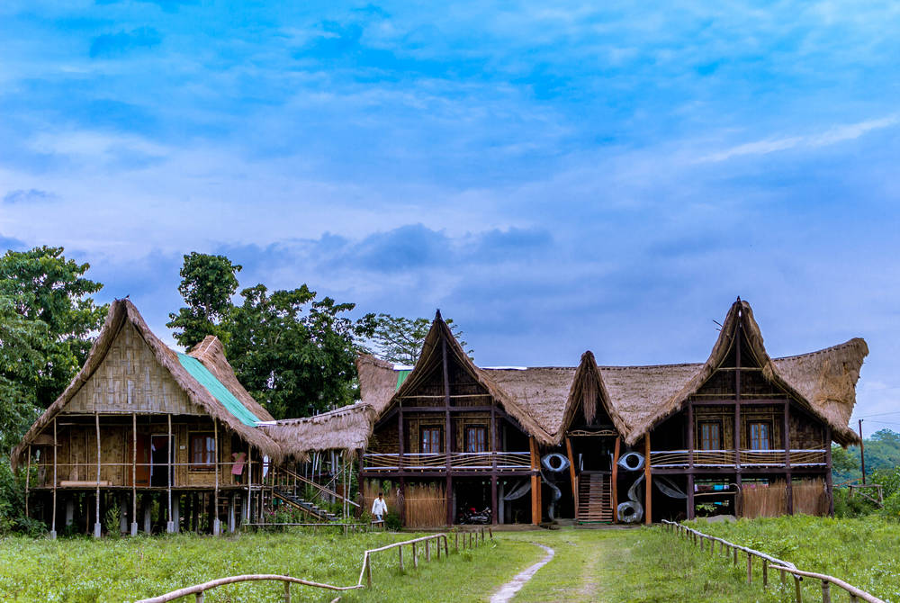 Traditional house,  Majuli