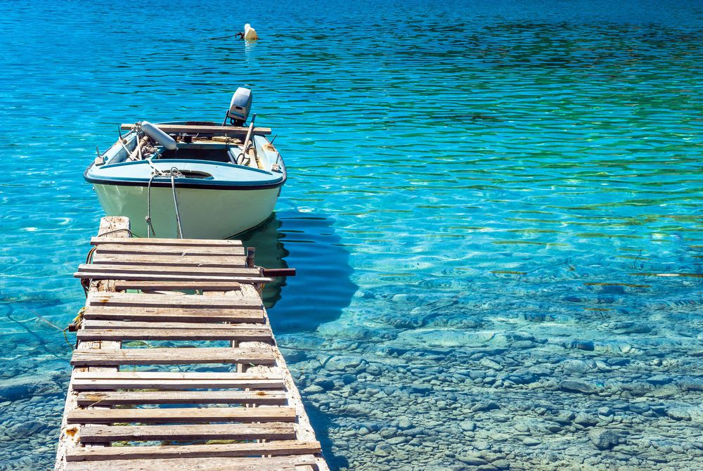 Traditional old fishing boat, island Mljet, Croatia