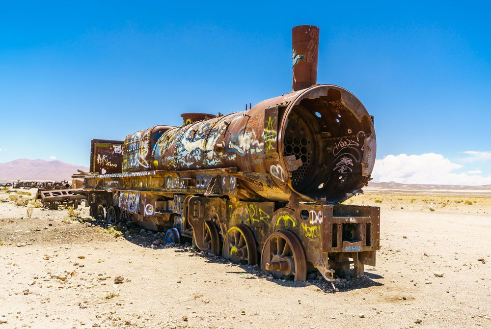 Train Cemetery, Uyuni Salt Flats, Bolivia