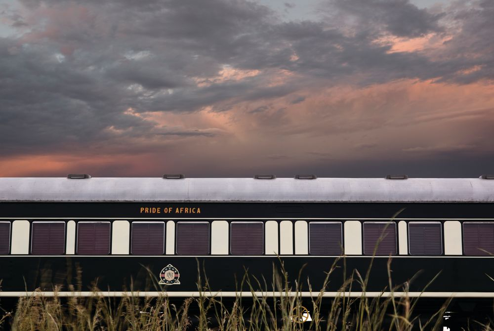 Train Coach Sunrise Reeds, Rovos Rail, South Africa