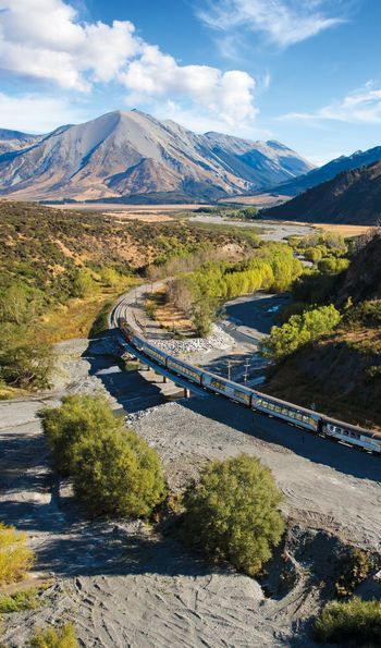 TranzAlpine train across New Zealand's South Island