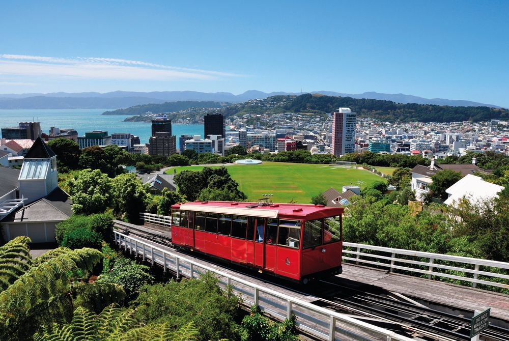 Travelling on the Cable Car, Wellington, North Island, New Zealand