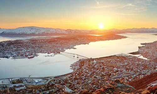 Tromso in summer Norway