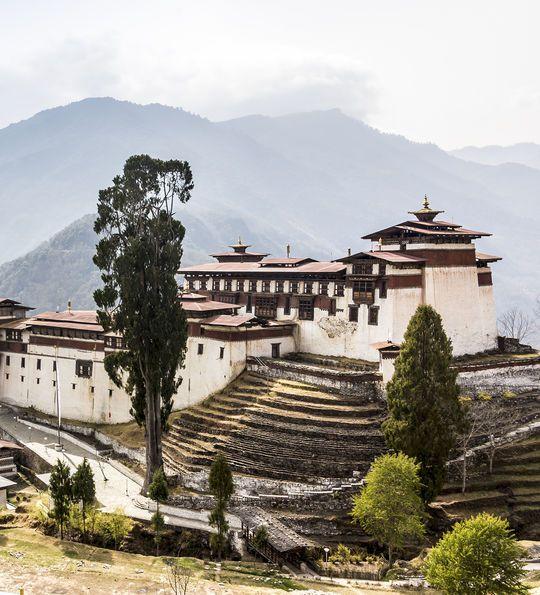 Trongsa Dzong, Bumthang in Bhutan