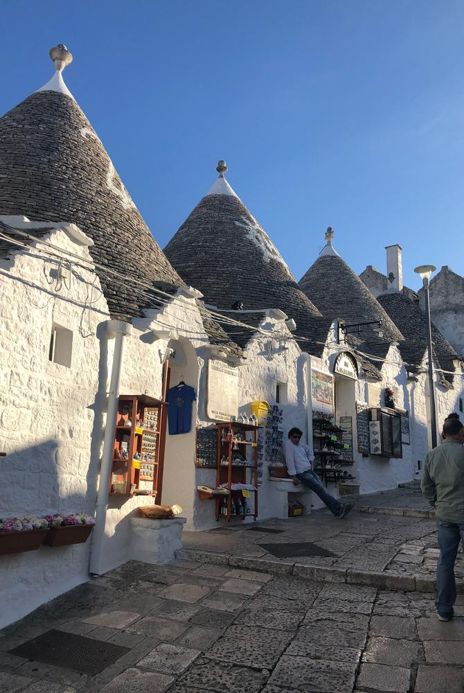 Trulli houses in Puglia, taken by Sophie Sadler