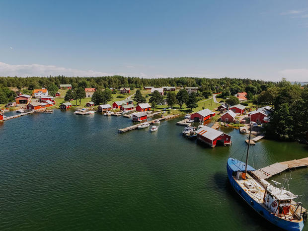 Traditional village in the Turku archipelago, Finland