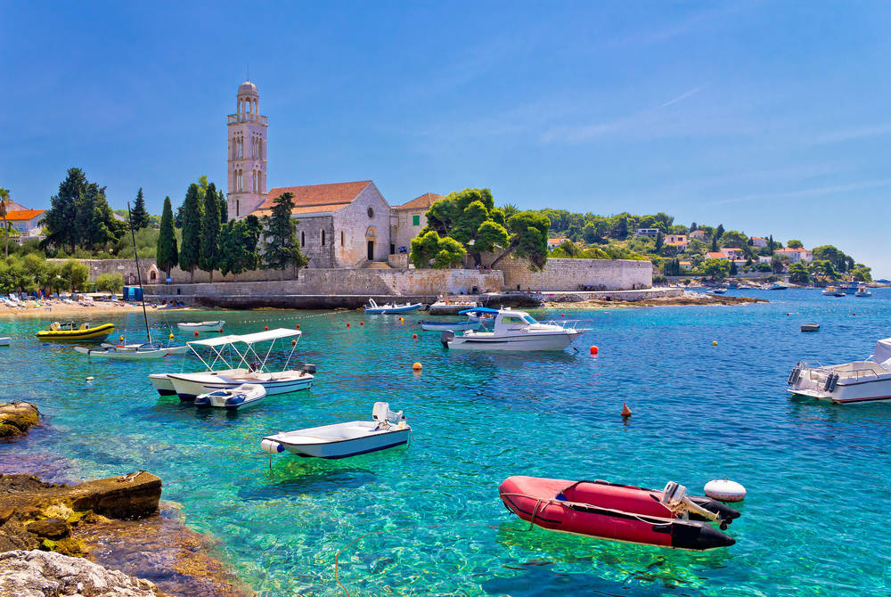 Turquoise sea of Hvar island, Croatia