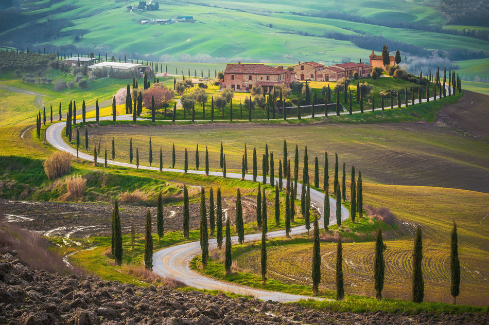 Tuscany countryside in Italy