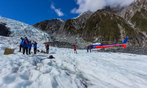 Twin Glaciers by Helicopter
