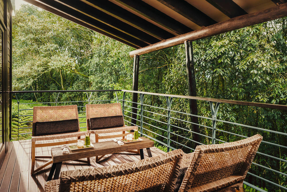 Decking, two bedroom suite, One & Only Nyungwe House, Rwanda