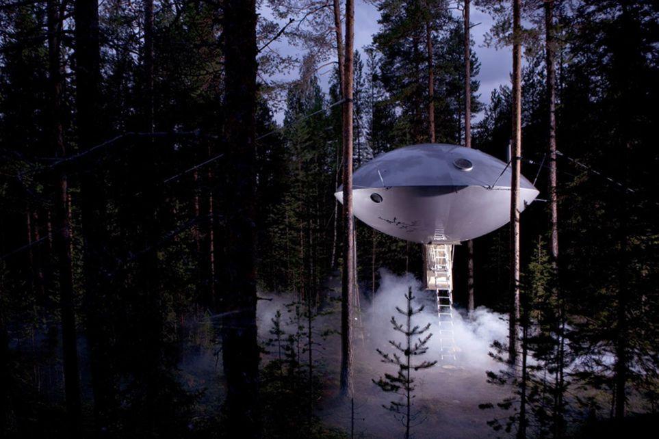 UFO, Treehotel, Swedish Lapland
