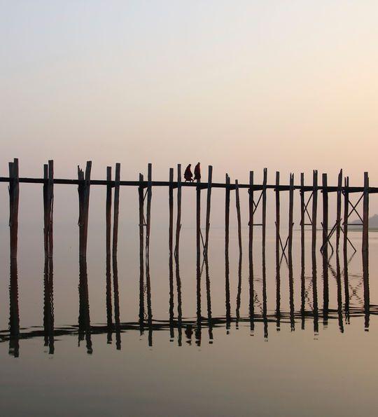 U Bein Bridge, Myanmar, Burma