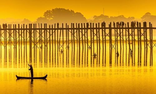 U Bein Bridge at sunset