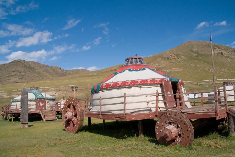 Mongolian gers, Golden Eagle Trans-Siberian Express