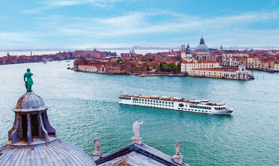 The boutique style river-ships of Uniworld in Venice