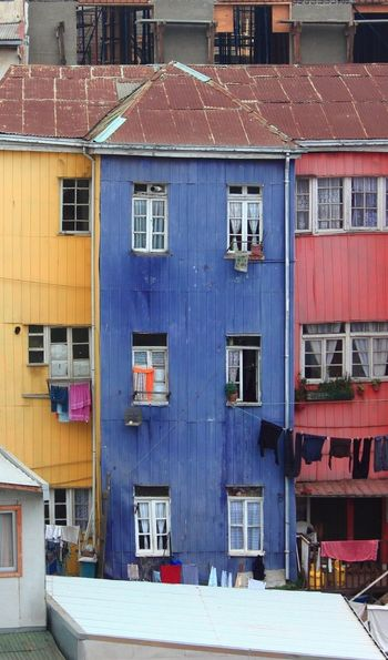 A picture of the colourful houses of Valparaiso in Chile