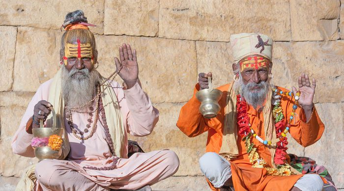 Hindu worshipers, Varanasi, India