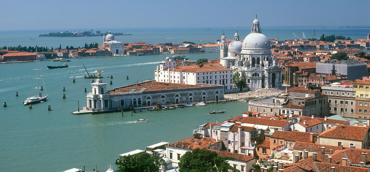 Venice's storied waterways, from above