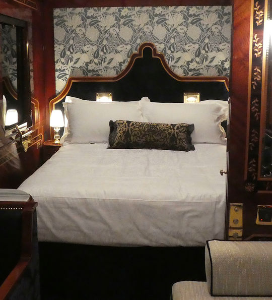 The Venice Grand Suite aboard the Venice Simplon-Orient-Express