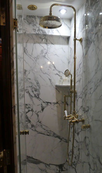 All Grand Suite have an en suite with shower - a first for the Venice Simplon-Orient-Express