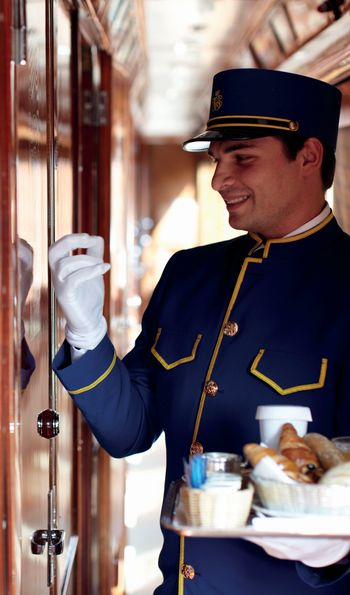 Breakfast aboard the Venice Simplon-Orient-Express is served in the privacy of your chosen cabin or suite