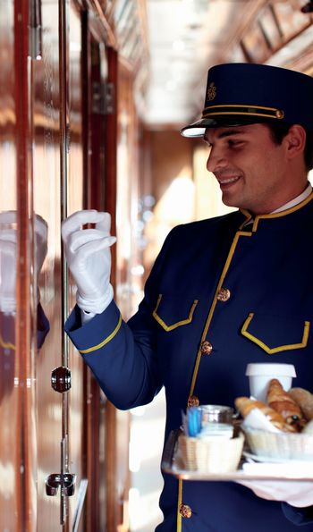 Breakfast delivery, Venice Simplon-Orient-Express