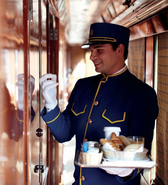 White-gloved service aboard the Venice Simplon-Orient-Express