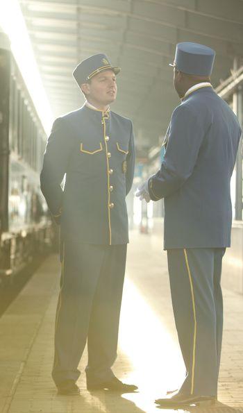 Venice Simplon-Orient-Express blue and gold uniforms