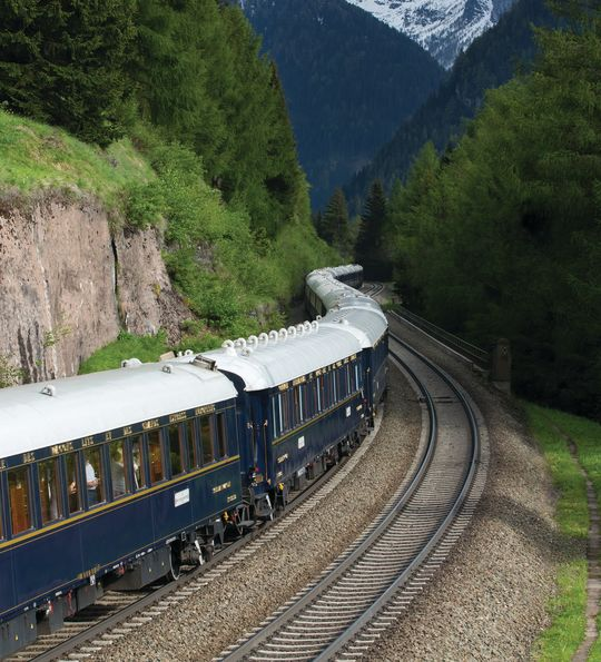 The Venice Simplon-Orient-Express in the Alps
