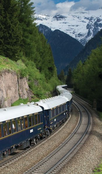 Venice Simplon-Orient-Express passing through Switzerland