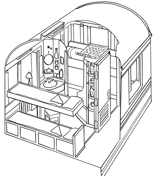 Venice Simplon-Orient-Express Cabin Suite layout