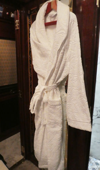 Complimentary dressing gown, Venice Simplon-Orient-Express