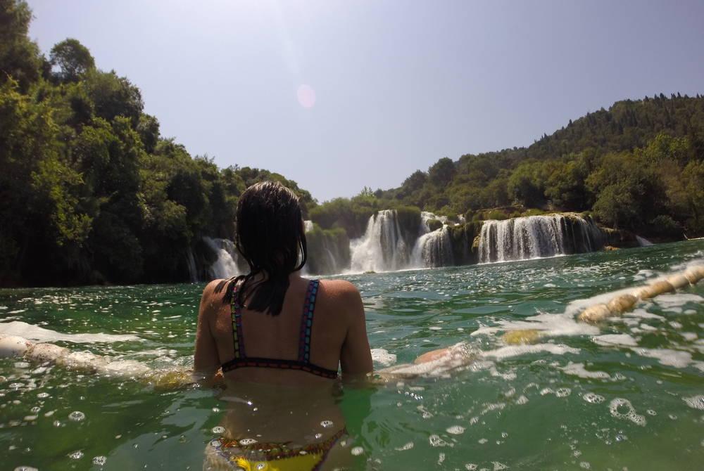 Victoria Jusko at Krka National Park, Croatia