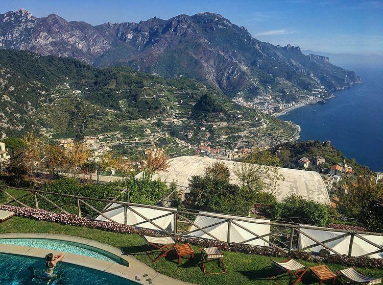 Victoria Jusko in Ravello Amalfi Coast Italy